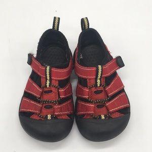 Keen red kids sandals